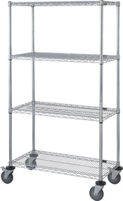 Chrome Wire Shelving Cart